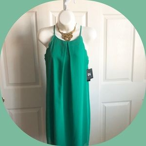 NWT 🌸 sleeveless emerald green  casual dress